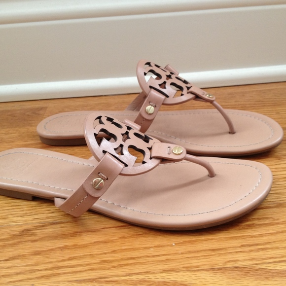 d8e2643c9 Tory Burch Miller Sandals in Light Makeup. M 5a89d7d75512fddd972dd767